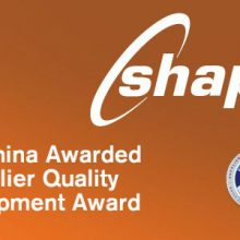 Shape China awarded GM Supplier Quality Award