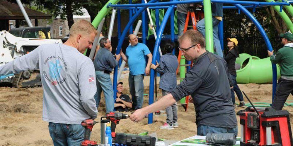 Shape Helps Build New Playground