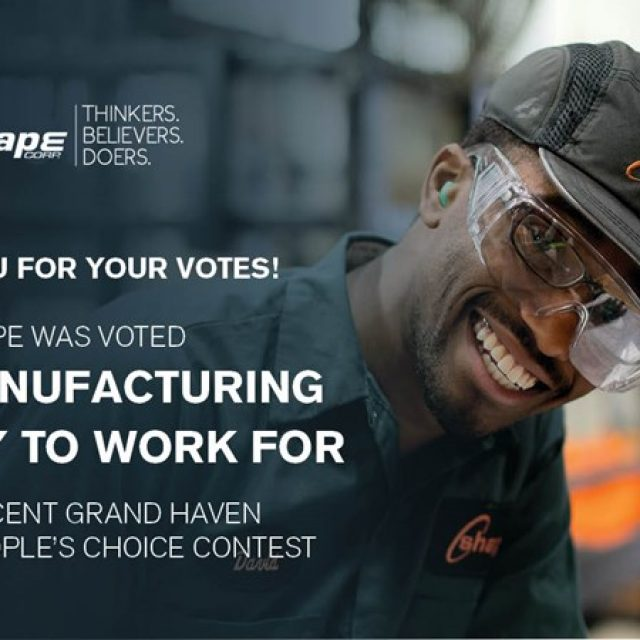 Shape Named Best Manufacturing Employer