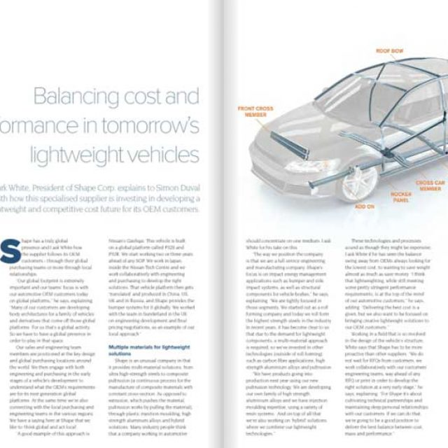 Auto Magazine Commends Shape's Balance of Innovation and Customer Support