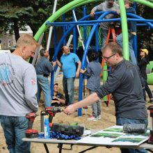 Shape Helps Build New Playground