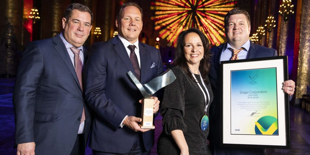 Shape Corp. wins Swedish Steel Prize 2019