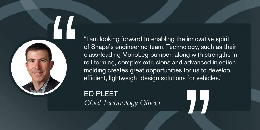 Shape Corp. Announces NEW Chief Technology Officer